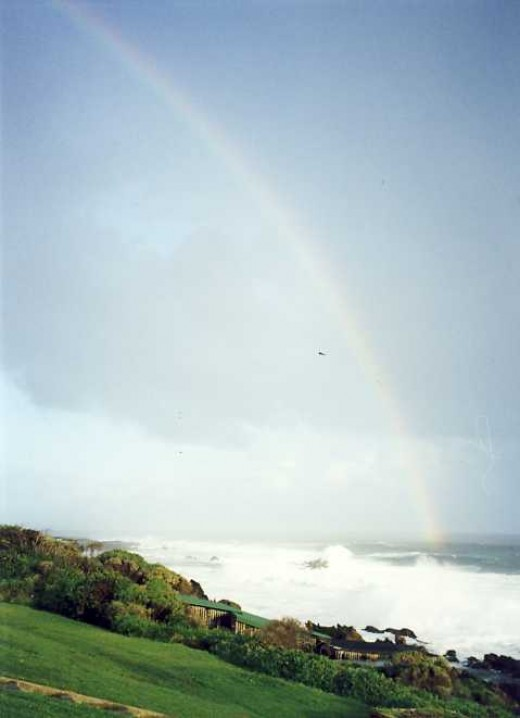 "A rainbow for the ""Rainbow Nation"". Scene at Storms River Mouth on the Garden Route. Photo by Tony McGregor"