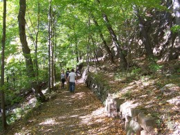 Wall Built by the Civilian Conservation Corps in the 1930s