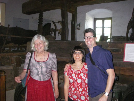 Interesting lady who guided us through the wine museum and our two guests from Australia.
