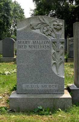 Mary Mallon's corpse is buried in St. Raymond's Cemetery in Bronx, N.Y.