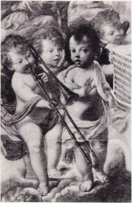 Detail, Fra Semplice da Verona, Infant Jesus and Musical Angels