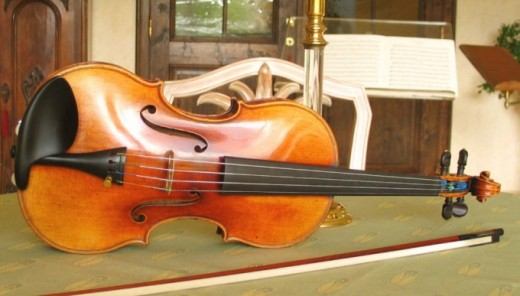 This fine violin is over 150 years old.