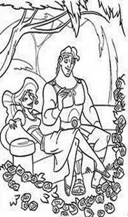 Greek Hercules Kids Coloring Pages and Free Colouring Pictures to Print