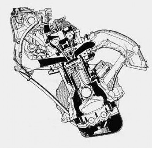 Toyota 5SFE cross sectional diagram