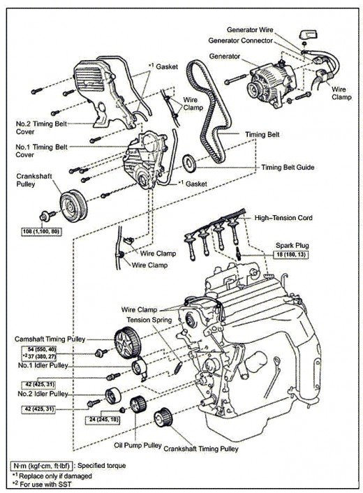 F on 2001 Toyota Camry V6 Timing Belt Diagram