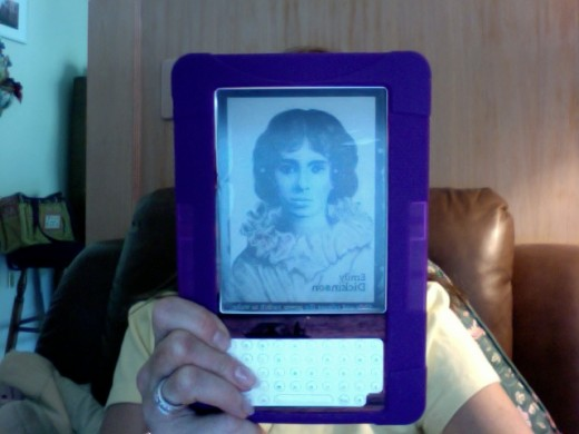 "Here's a purple silicone ""skin"" for the Kindle which is great for non-slip and gripping."