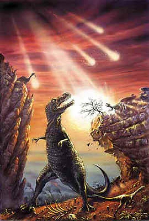 It is now accepted that the dinosaurs met their fate in a great impact catastrophe.