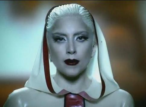 Lady Gaga still from the Alejandro video