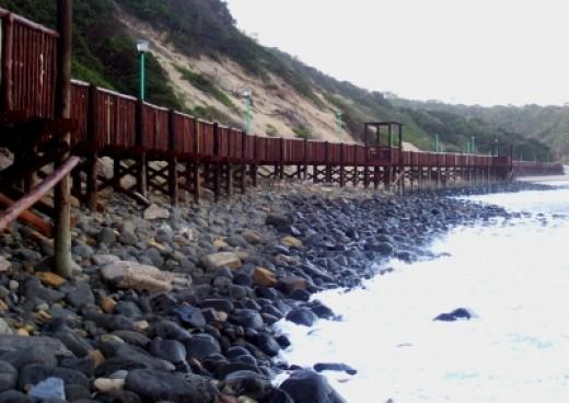 The Gonubie Boardwalk. Photo by Teresa Schultz.