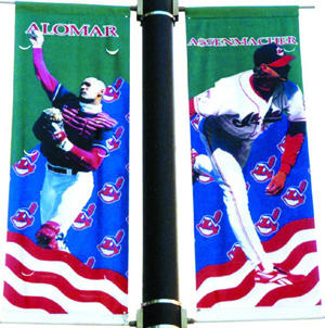 Cleveland Indians pole banners, World Series 1995, by ZZ Design
