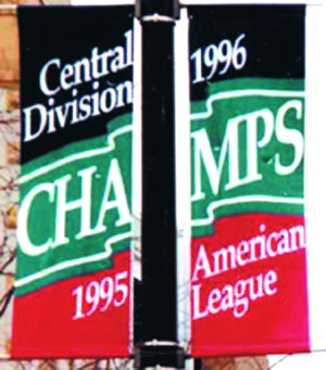 1997 Cleveland Indians pole banners, by ZZ Design