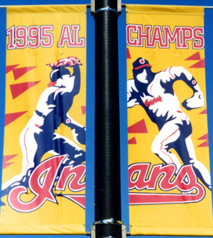 1995 American League title pole banners, by ZZ design