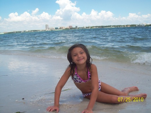 Lexi at Clearwater Beach.