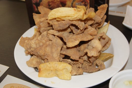 Fried Chicken skin from Sunburst...CRUNCHY