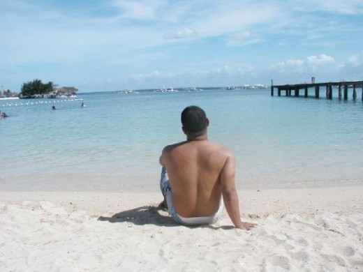 Enjoying the beaches of Mactan