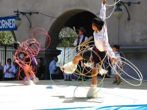 Hoop Dance. Performance from a 2001 pow wow.