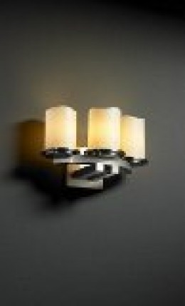 Dakota Nickel 3 Curve Candle shades candle wall sconce