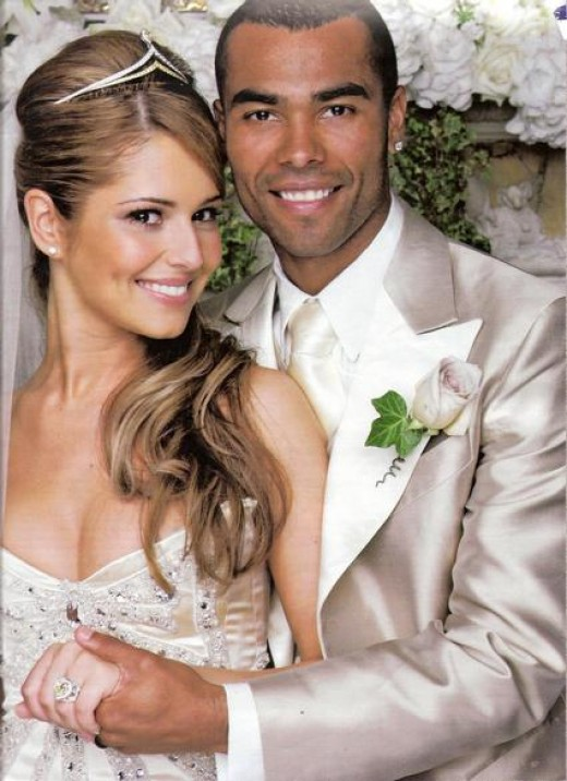 Cheryl and Ashley Coles' wedding in 2006