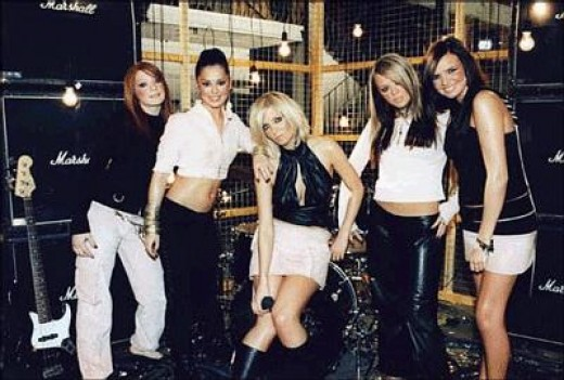 Girls Aloud when they first formed
