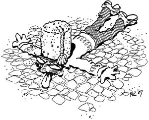 Man in a Concrete Fez, by rlz