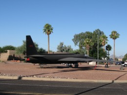 U2 aircraft on display at Davis Monthan AFB in Tucson, AZ (photo copyright 2008, Chuck Nugent)