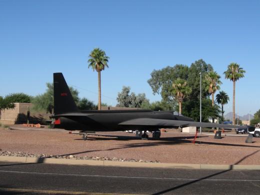 U2 aircraft on display at Davis Monthan AFB in Tucson, AZ (photo copyright 2008, Chuck Nugent)