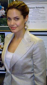 Photo Credit: official U.S. Government photo in the Public Domain.  Photo courtesy of WikiPedia.org ( http://en.wikipedia.org/wiki/File:Angelina_jolie_lugar.jpg )