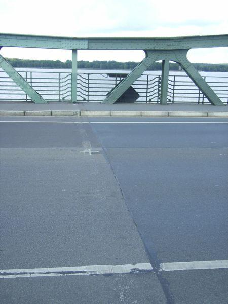 Glienicke Bridge Where Powers-Abel and other Cold War Spy Swaps took place.  Public Domain Photo taken by Dr Torsten Henning and published on WikiPedia.org at http://en.wikipedia.org/wiki/Glienicke_Bridge