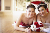 The maid/matron of honor is the bride's best friend and/or closest relative.