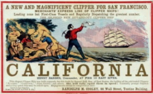 Not everyone came to California by covered Wagon. Horace Snow was a ship passenger for most of the journey.