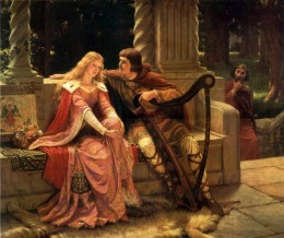 An image of Courtly Love. Edmund Blair-Leighton (1902) Tristan and Isolde. This idealized image of piety and decorum was painted as part of the backlash against the modern world of reeking factories and gin shops in Victorian England.