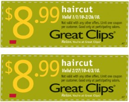 Coupons  Hair Cuts on Great Clips Coupon