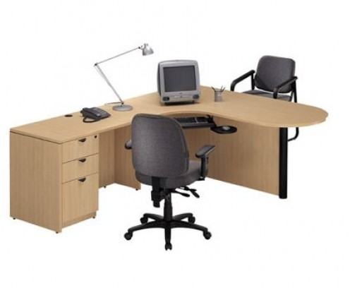 the space and style of your home office with an l shaped office desk