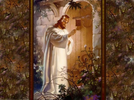 Jesus stands at the door knocking, what we do and how we respond determines if we inherit the Kingdom of God, or the pit of hell.