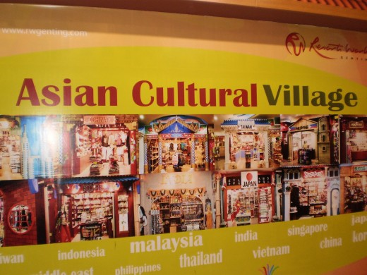 Shop at Asian Cultural Village in the First World Plaza.