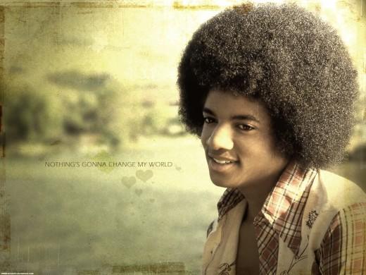 Michael Jackson afro hair