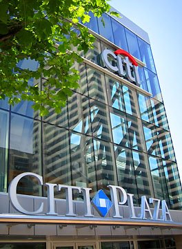 Citi Plaza's atrium entrance