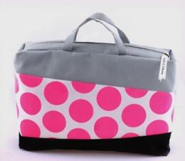 A pink laptop bag