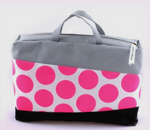 A pink laptop bag