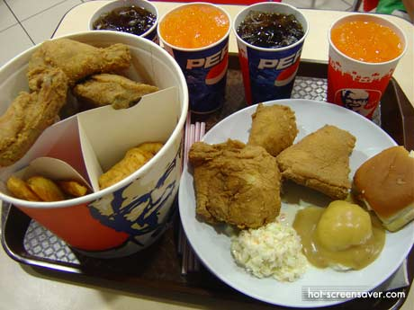 KFC delivery Philippines Menu