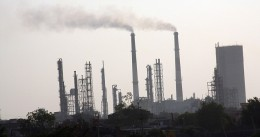 chemical plant along the Narmada's shores in Gujarat