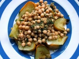 Indian Chickpea salad.