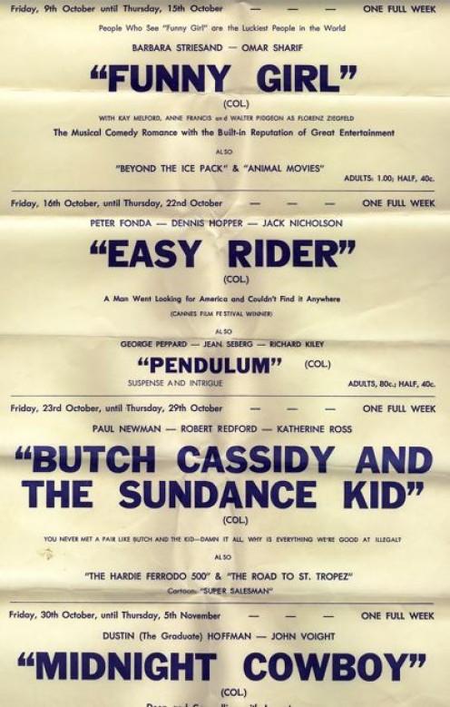 OCTOBER 1969 MOVIE PROGRAM