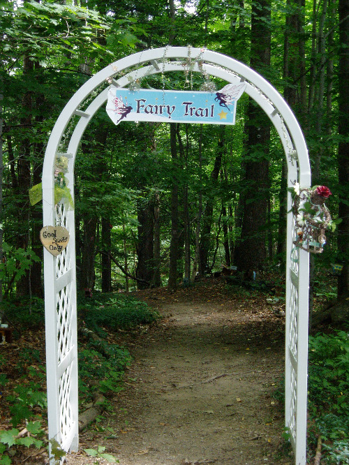 Fairy Trail entrance.  Photo by Gerber Ink.