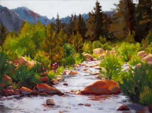 'Springtime Mountain Creek' by Andrea Gabel