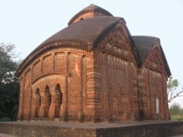 Kesto Rai Temple. Bishnupur,Dt : Bankura. Mallaraj Raghunath Singha. 1655 AD. Also known as : Jor Bangla Temple.