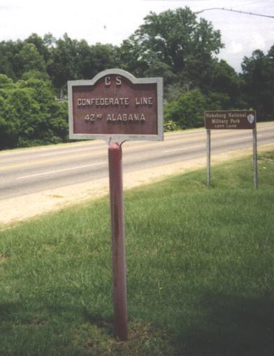 42nd Alabama Position Marker near Clay Street