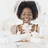 Use your wedding website to inform guests where you're registered!