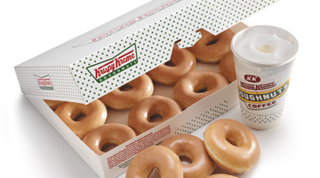 Krispy Kreme Doughnuts and coffee, yummy!