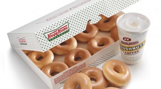 Krispy Kreme Doughnuts and coffee, yummy!
